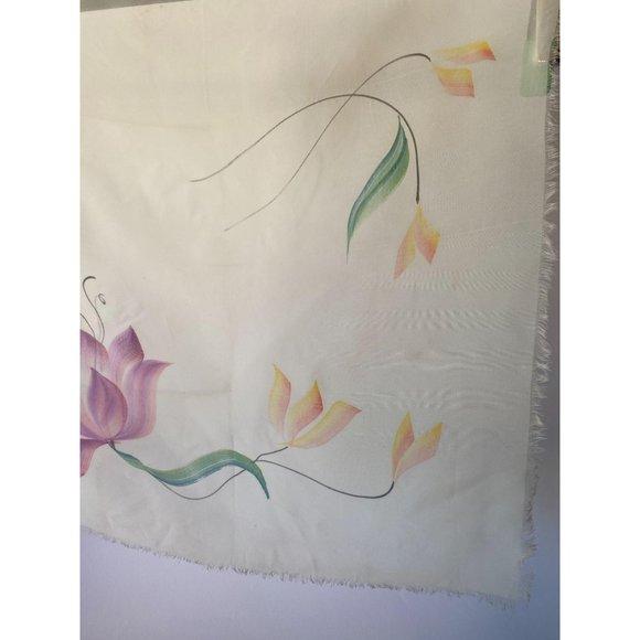 Spring Flowers Vintage Scarf